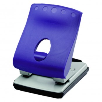OfficeForce 2-Hole Locher Wave Kap. 40 Blatt, blau