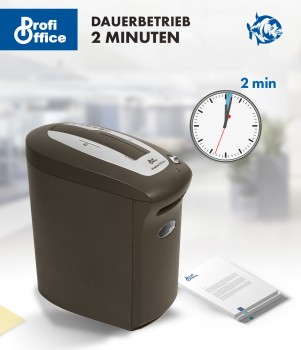 ProfiOffice CD Aktenvernichter Piranha 110 CC+ cross-cut Papier Shredder + Extra