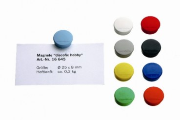 """Discofix Magnete, """"Hobby"""" D=25 mm, gelb   1664502"""