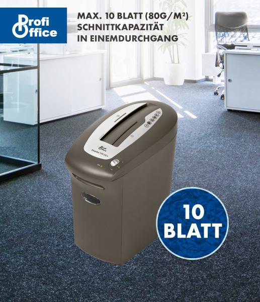 ProfiOffice CD Aktenvernichter Piranha 110 CC cross-cut Papier Shredder
